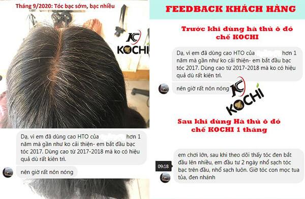 Hà thủ ô đỏ chế Kochi trị tóc bạc cực kỳ chất lượng