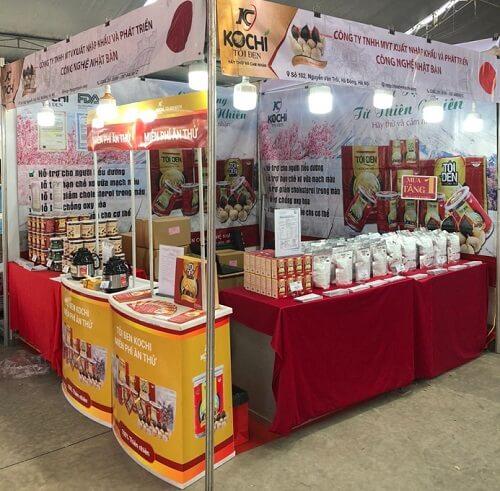 Thương hiệu tỏi đen Kochi và Hà thủ ô đỏ chế Kochi tại hội chợ kích cầu tiêu dùng 2020