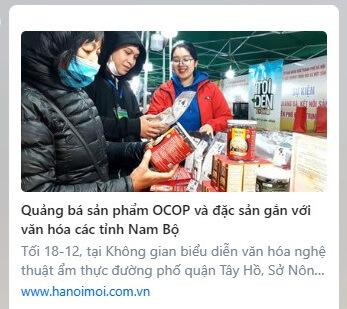 Báo hanoimoi đưa tin về sản phẩm thương hiệu tỏi đen Kochi và hà thủ ô đỏ chế Kochi