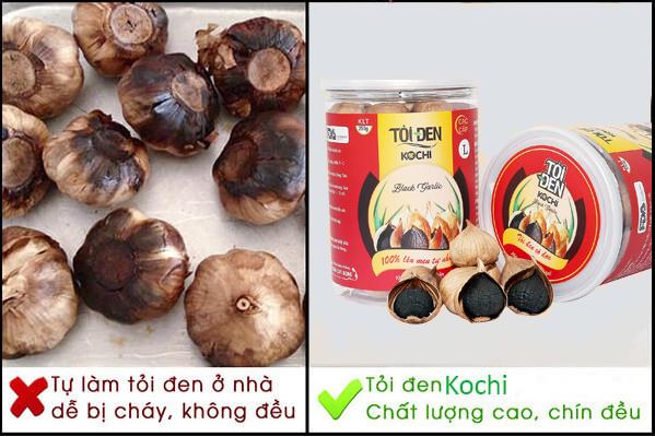 So sánh chất lượng tỏi đen Kochi và tỏi đen chất lượng kém